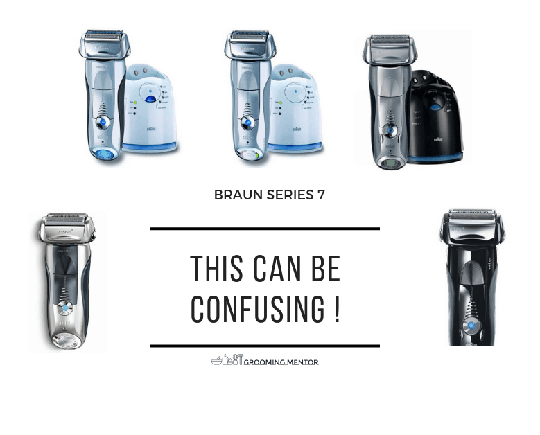 Image shows different models on braun electric shavers